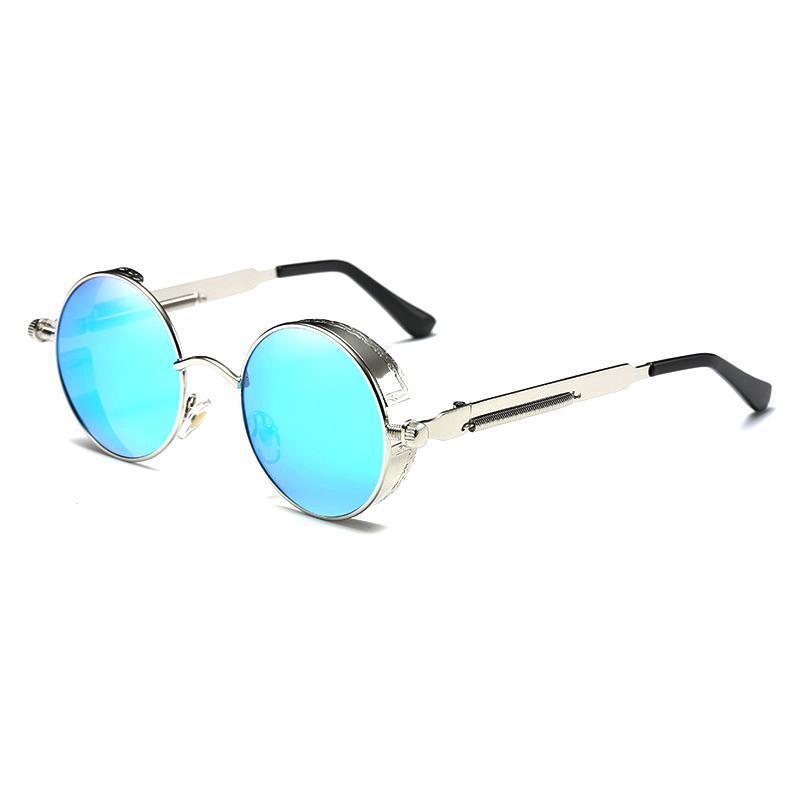 Steampunk Brand Design Punk Round Sunglasses Driving Women Driver Polarized Metal Fashion Sun Glasses Glasses Original Male Men Punxo