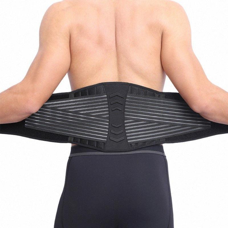 nylon + OK panno doppio tiro supporto lombare regolabile a vita bassa posteriore del gancio della cinghia Pain Relief Protezione Sport. 8md1 #