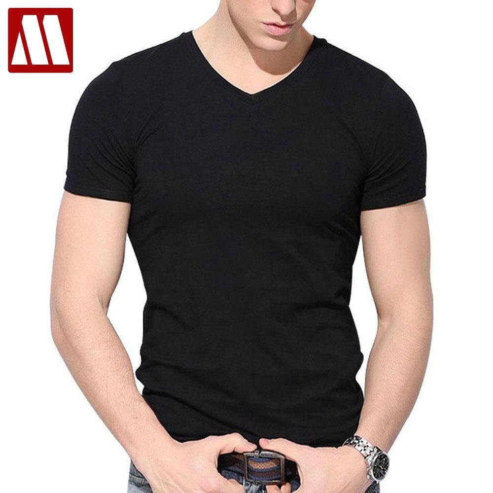 2020 Nuevo estilo para hombre de manga corta de la camiseta del verano delgadas del ajuste del algodón de cuello V camisetas para los hombres del tamaño grande de la aptitud de las 4XL 5XL hombres Tees CX200707