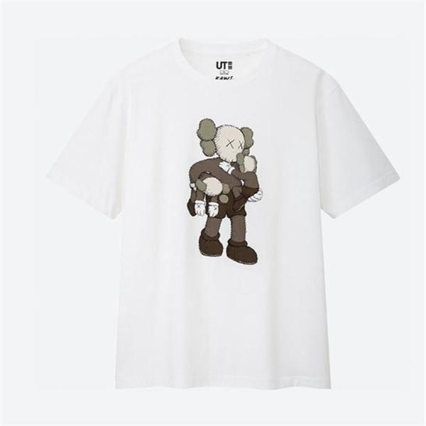 새로운 연인 셔츠 CIN 남자 여성 캐주얼 티셔츠 반팔 UNIQLO X KAWS X SESAME STREET L 패션 의류 티는 티 품질을 꼭대기 오래 간다