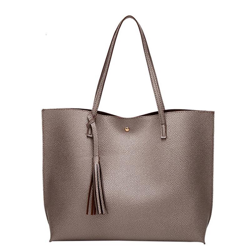 Dihope Frauen aus weichem Leder-Handtaschen-Qualitäts-Frauen-Schulter-Beutel Shopper Bucket Bag Fashion Haspe Frauen Handtaschen 2020 Neue