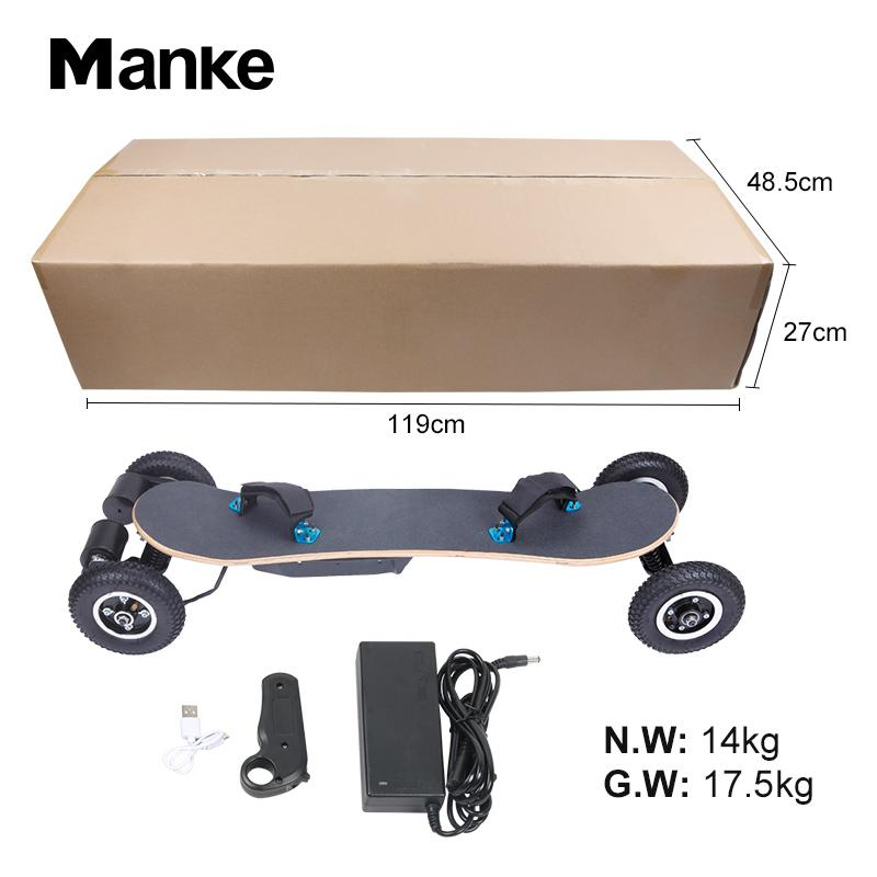 2020 Branded Design Manke Factory Directly Selling Electric Skateboard 4 Wheel Self Balancing Skateboard with Remote Control