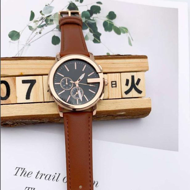 nova venda quente Casual Quartz correia de couro Moda Brand Watch Feminino Strap faixa de relógio de pulso homens relógios 2020 Luxo