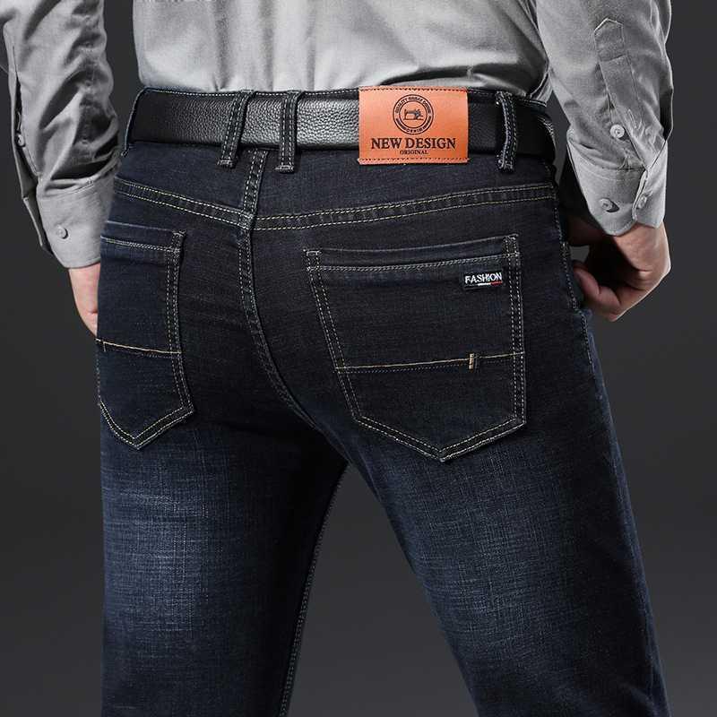 Blu Jeans Uomo Fashion Casual chic commerciali Jeans Men Large Size 28-40 Denim stretch pantaloni 2020 primavera autunno uomo Pantaloni