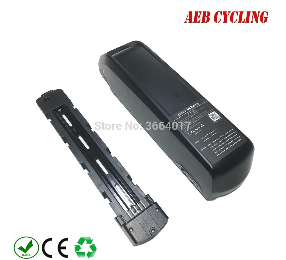 Free shipping new polly down tube battery 52V 10Ah/11.6Ah/12.8Ah/13.2Ah/14Ah Li-ion electric bike pack for fat tire