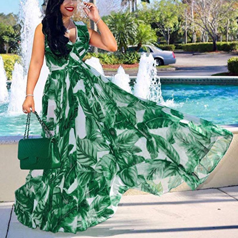 Hot Sale Maternity Dress Europe USA Large Size Women's M-5XL Digital Printing One-piece Split Pregnant Women Postpartum Clothes