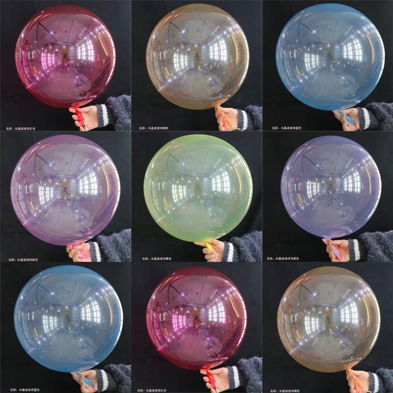 NS Crystal Bobo Ball Multicolore Décoration Ballon De Mariage Décoratif Couleur lumineux Ballons de 18 pouces Coloré Colorful Clear Gonflable Boules