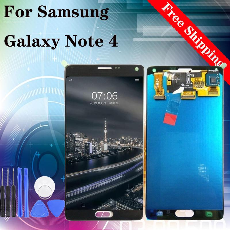 Brand new Touch Screen Digitzer für Samsung Galaxy Hinweis4 N910P N910A N910F N910V N910T LCD Display Ersatz freies Verschiffen