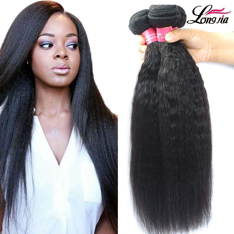 Não transformados Kinky brasileira Hetero Máquina cabelo extensão do cabelo Virgin Humano Brasileiro Duplo trama Cor Natural pode ser tingido