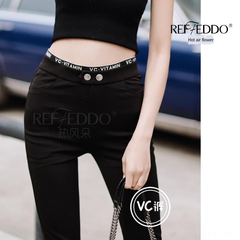 vJkqd La actividad también establece viento caliente VC alta cintura que adelgaza la protección solar conjunto corte fino libre de los pequeños pantalones negros elásticos de alta pequeños pantalones negros