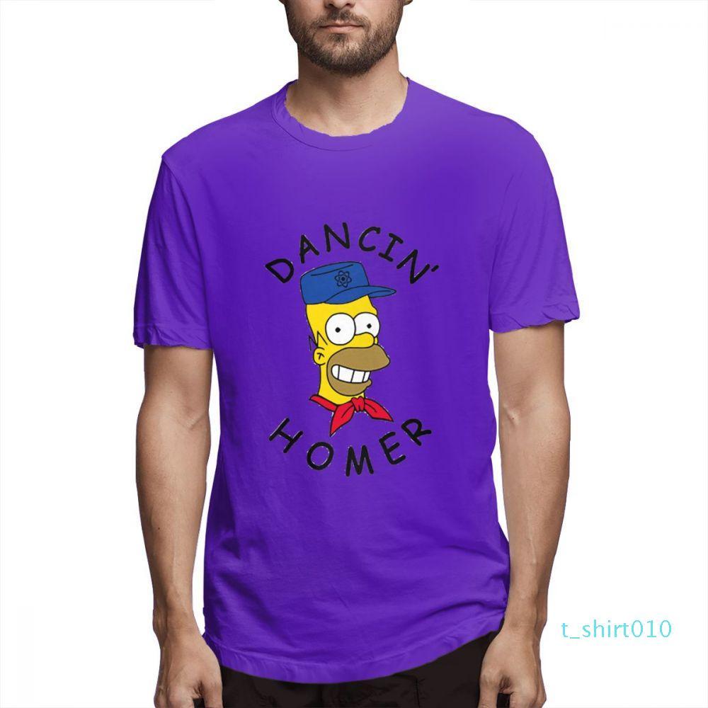 Coton Les Simpsons Mode Chemises Designer Femme Chemises Hommes manches courtes T-shirt Simpsons T-shirts imprimés causales c3605t10