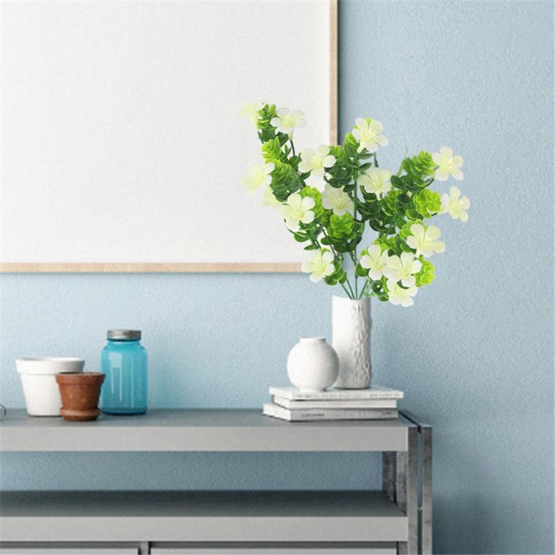 5-Zweig Künstliche Blumen Gras Bouquet Simulation Blumendekor Heim Tabelle Center Gefälschte Blume FwNq #