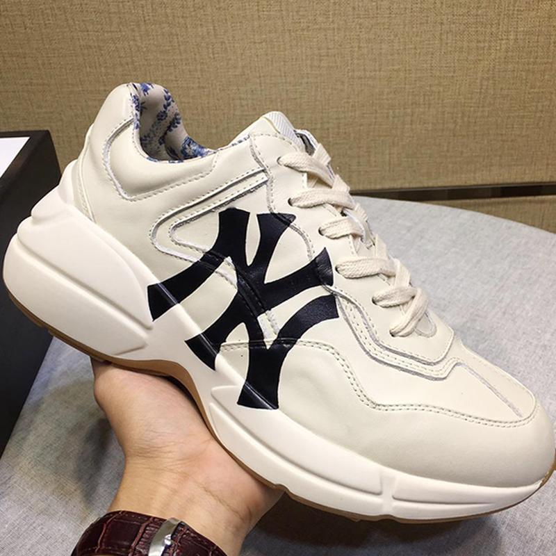 Nueva llegada Zapatillas Hombre Hombres '; S Rhyton la zapatilla de deporte de los hombres con la impresión'; s zapatos bajos Top deportes de los hombres zapatos de otoño y del invierno de la moda S