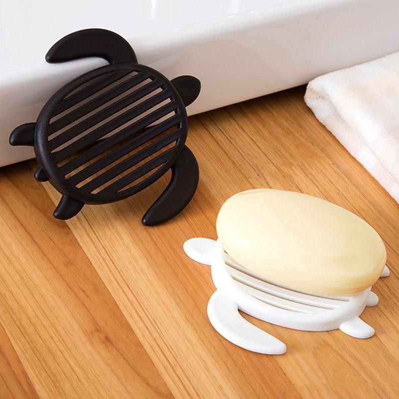 Baño creativa forma de tortuga caja de jabón de baño Drenaje Soap Box Cocina Drenaje Jabón cocina Plato de accesorios