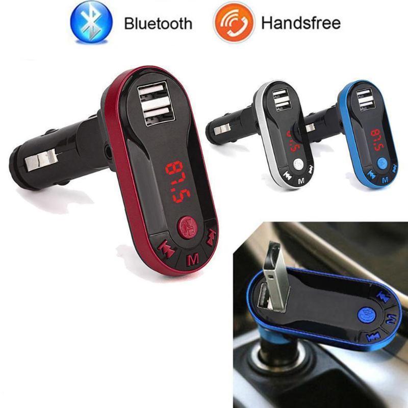 4-In-1 Hands Free Wireless FM Transmitter Modulator Car Kit MP3-Player SD-USB LCD-Auto-Musik-Player USB-Ladegerät
