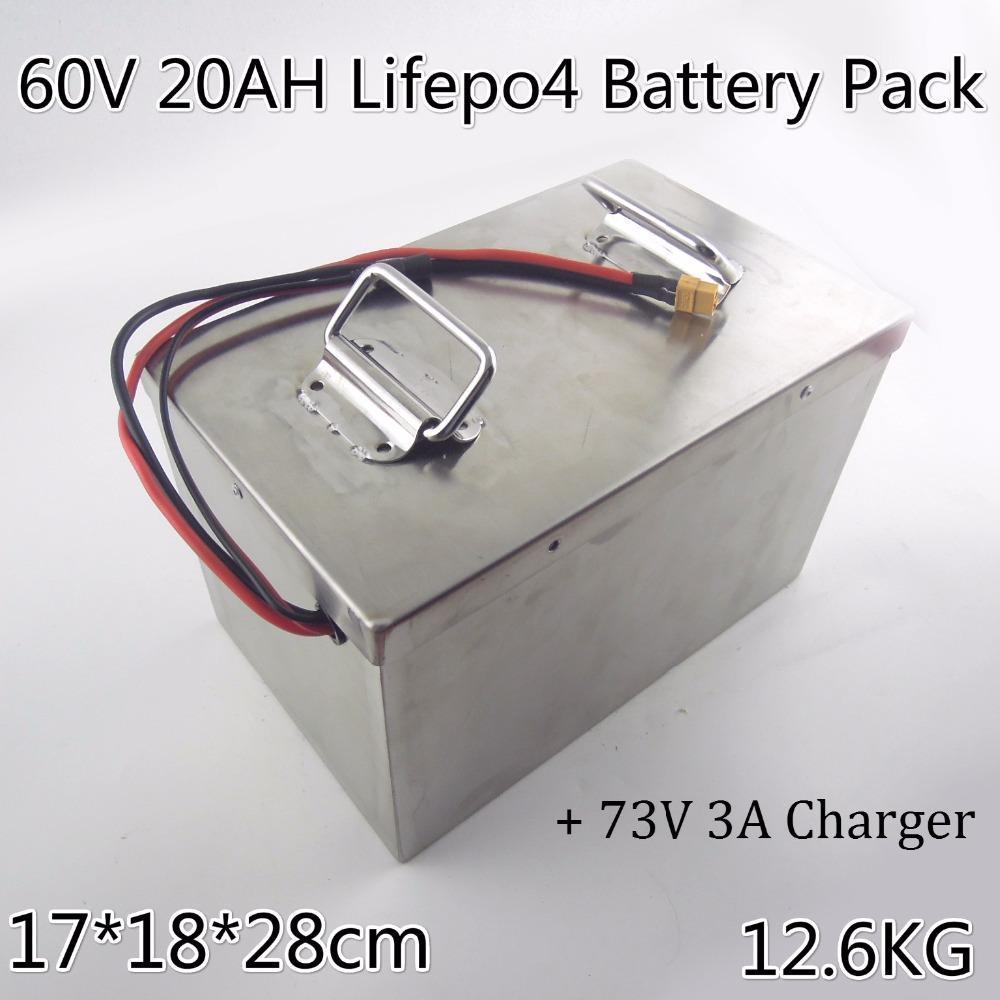 Аккумуляторная батарея Btaaery 60V 20AH lifepo4 171828 + 3A зарядное устройство для 1200W Электрический двигатель трехколесного велосипеда мотоцикла Halley автомобиля Дэвидсон Tutuk