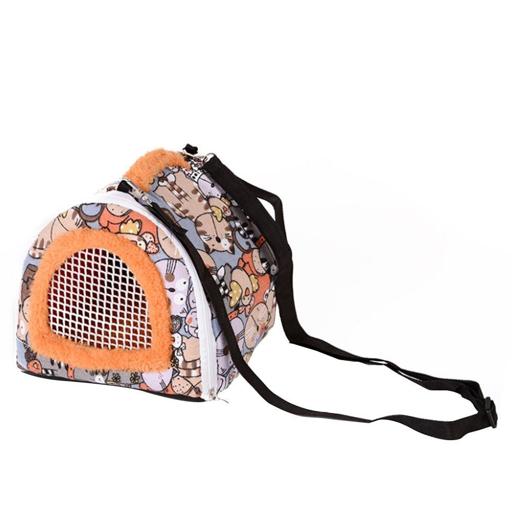 Hedgehog pequeno portátil Pet Travel Bag Hamster portador respirável Outdoor Pet Bag