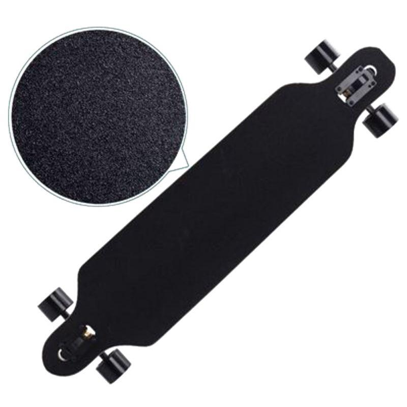 Langes Board Sandpapier professionell schwarz Skateboard Deck Sandpapier für Eislaufen Longboarding Emery Road