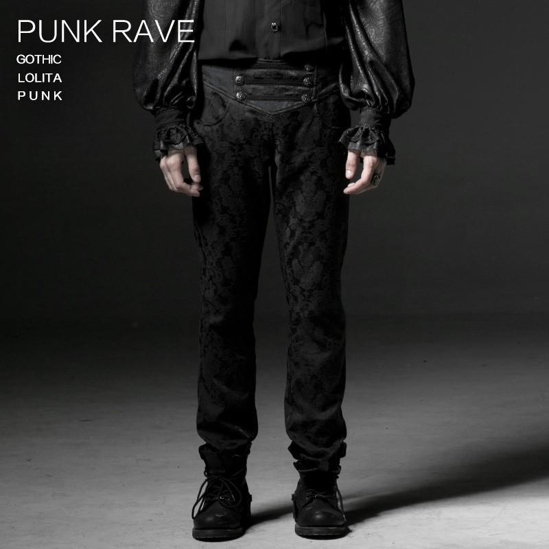 Mode Male Tarnung lose Zwei-wear Hosen beliebte schwarzer Chiffon Baumwolle Hosen PUNK RAVE K-193
