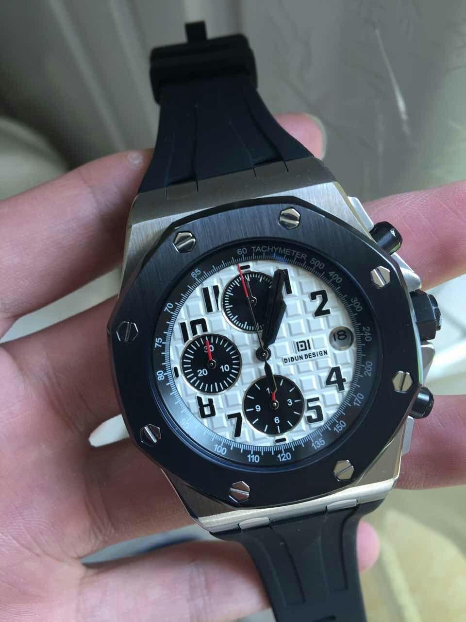 DIDUN montre hommes de luxe marque hommes en acier Quartz Sport montres hommes militaire Sport montre-Armband 30m Tanche horlo CX200804