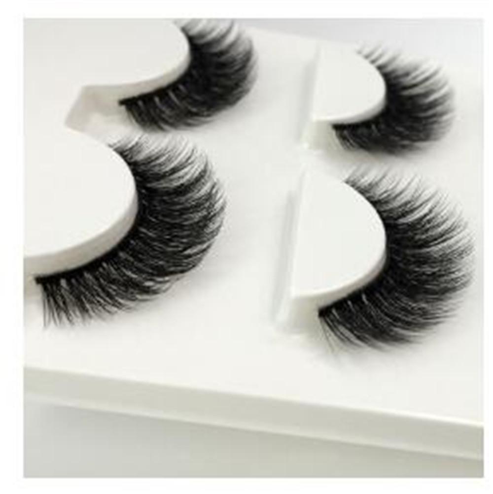 3 paires de faux cils naturels maquillage épais véritable de vison 3D cils doux cils faux cils extension de l'oeil longs cils de vison 3D