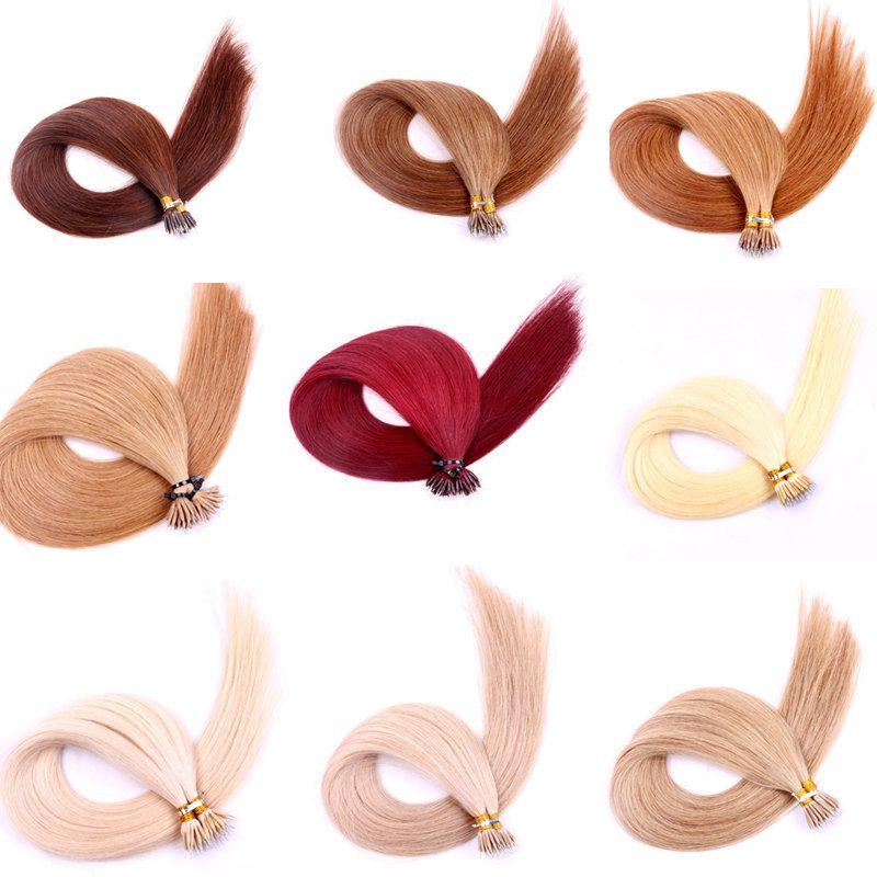 Длительная 2года 20INCH Pre скрепленных Nano Кольцо из бисера человеческих волос девственницы кутикул выравнивания Remy бразильских индийских человеческих волосы
