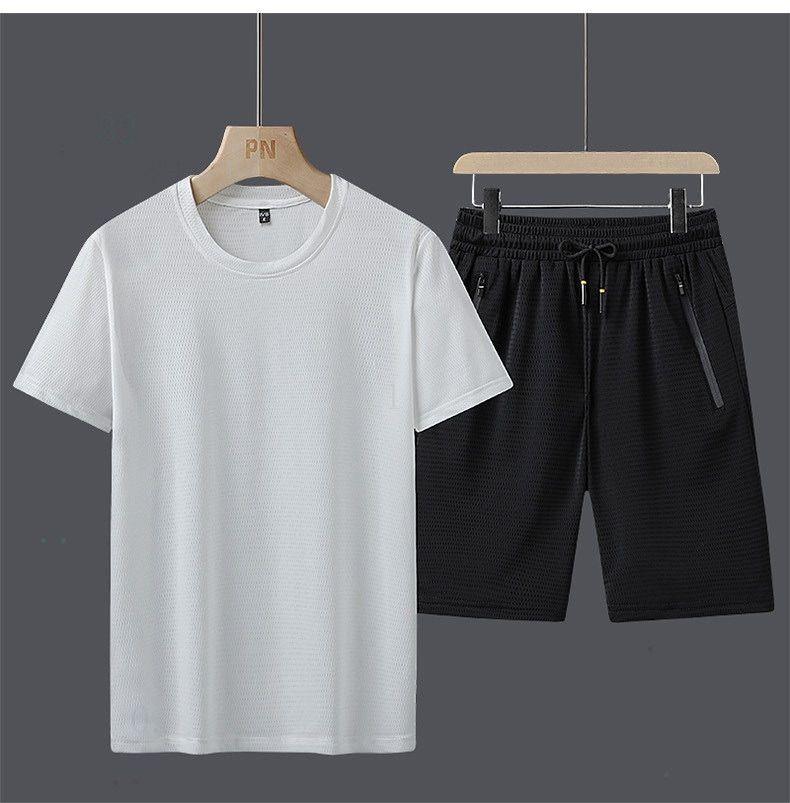 جرزاية رجل رياضية الصيف 2020 ملابس فاخرة dweyw7ewd قصيرة الأكمام البلوز مع عارضة عداء ببطء سروال بذلات أوم Sportsui