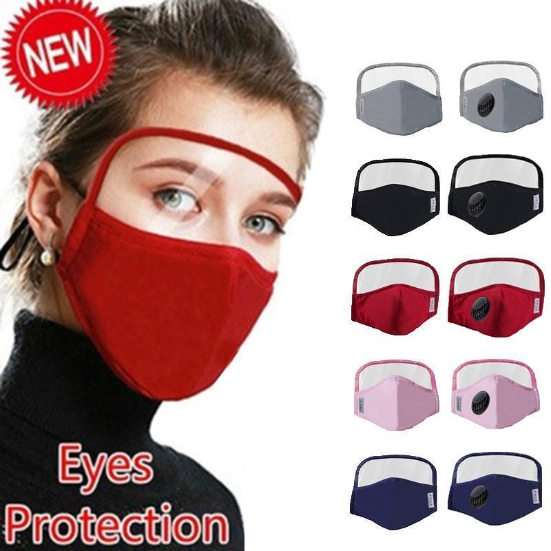 En stock ! Envío rápido Nueva Mascarilla diseñador con el blindaje de los ojos lavables 2 capas de algodón con la ranura para el uso de mascarillas máscara protectora personas