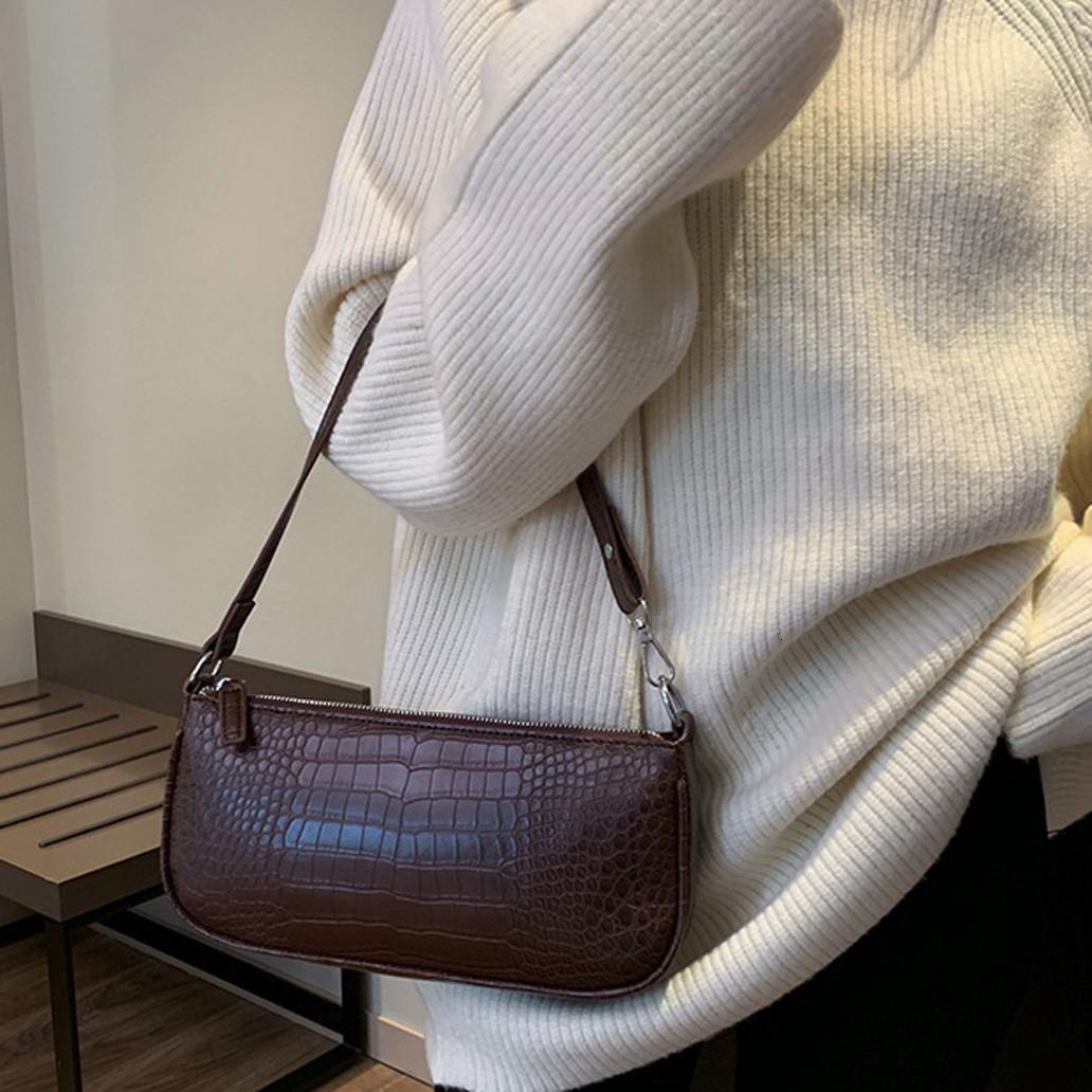 Аллигатор Женщины Посланника сумки Baguette плечо Сумки для женщин 2020 Split Крокодил Bolsas Sac A Главный Yl