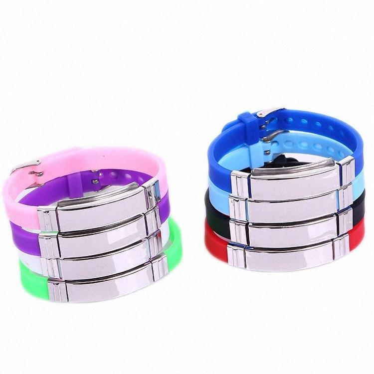 Punk Trendy Glossy Silicone Id Bracelets For Women Bracelet Men Jewelry FF54#
