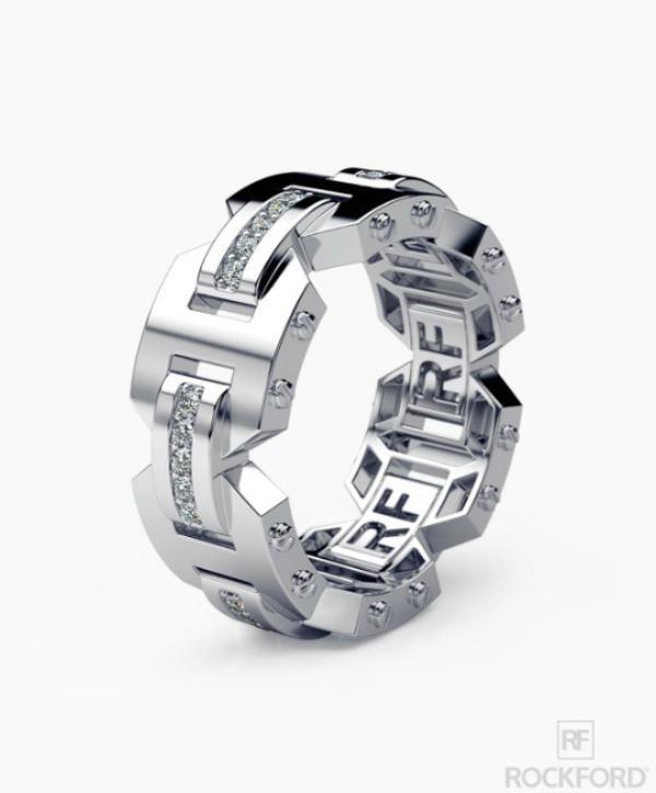 남성과 여성 휴가 선물 다이아몬드 4K 로즈 골드 약혼 반지와 함께 새로운 창조적 인 925 실버 도금 링