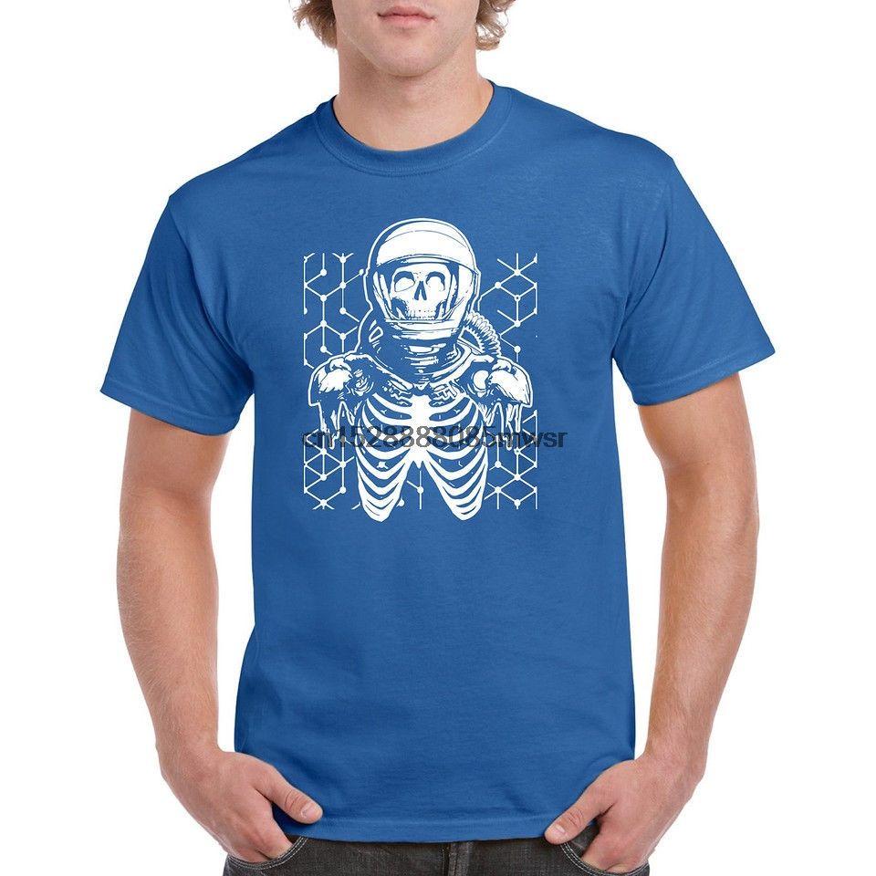 2019 Новый 100% хлопок для Man T-Shirt Сыпучие Одежда Астронавт Череп короткий рукав хлопок футболки Человек Одежда