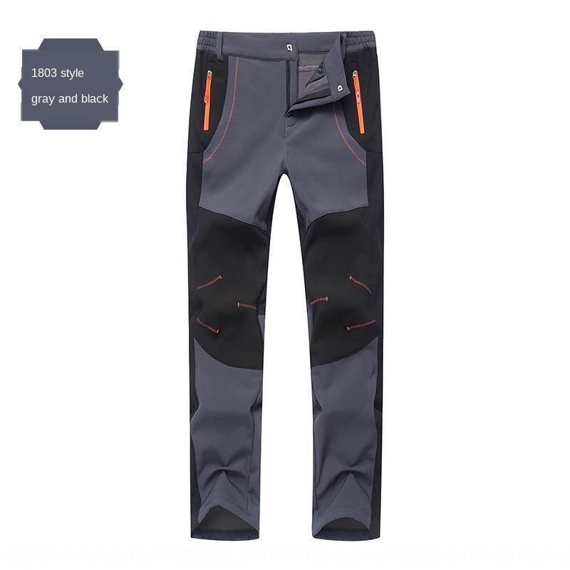 QVR5o al aire libre nueva pareja engrosado pantalones de los pantalones de conchas calientes impermeables de los hombres de la chaqueta de la chaqueta transpirable caliente de felpa suave esquí de montaña rn2JH
