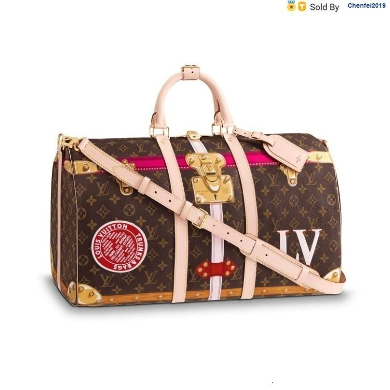 chenfei2019 5QIK Edition Keepall50 Shoulder Travel Bag M43613 Totes Handbags Shoulder Bags Backpacks Wallets Purse