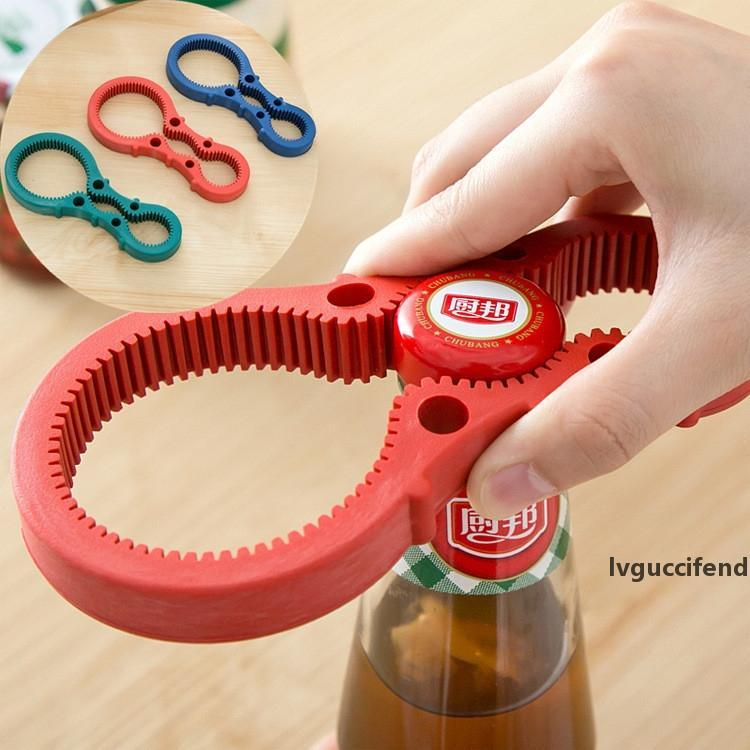 Multi Purpose Gourd-shaped Can Opener Screw Cap Jar Openers Bottle Lid Grip Wrench Kitchen Accessories IC548