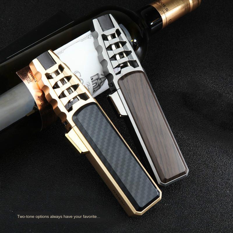 2020 Hot Sell New Sty Spray Pistolet Jet Butane Pipe Butane Pipe Briquet Métal Gaz Cuisine Torche Turbo Turbo Everfil Cigare Gadgets pour hommes