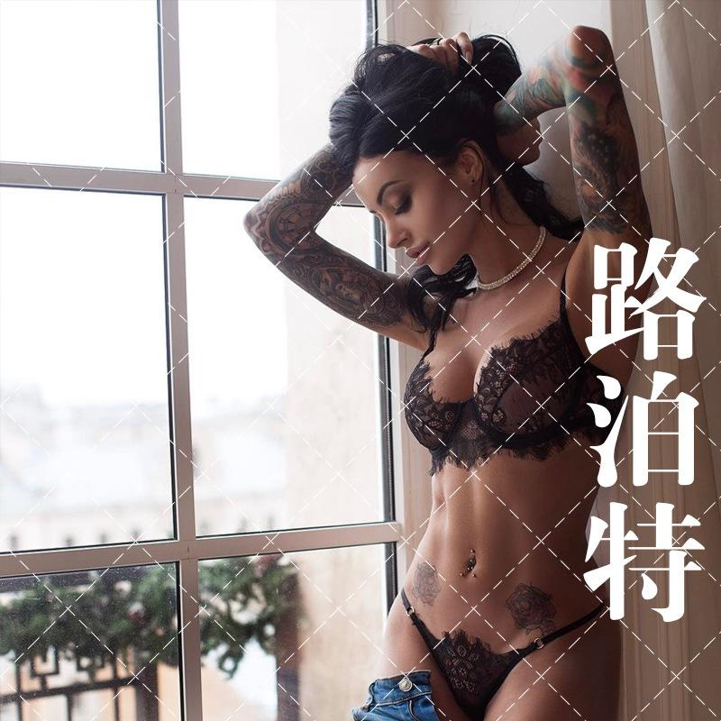 Popüler Dantel Seksi Perspektif Seksi Sütyen Seti Üç Nokta Ultra İnce Hollow Seksi İç Giyim