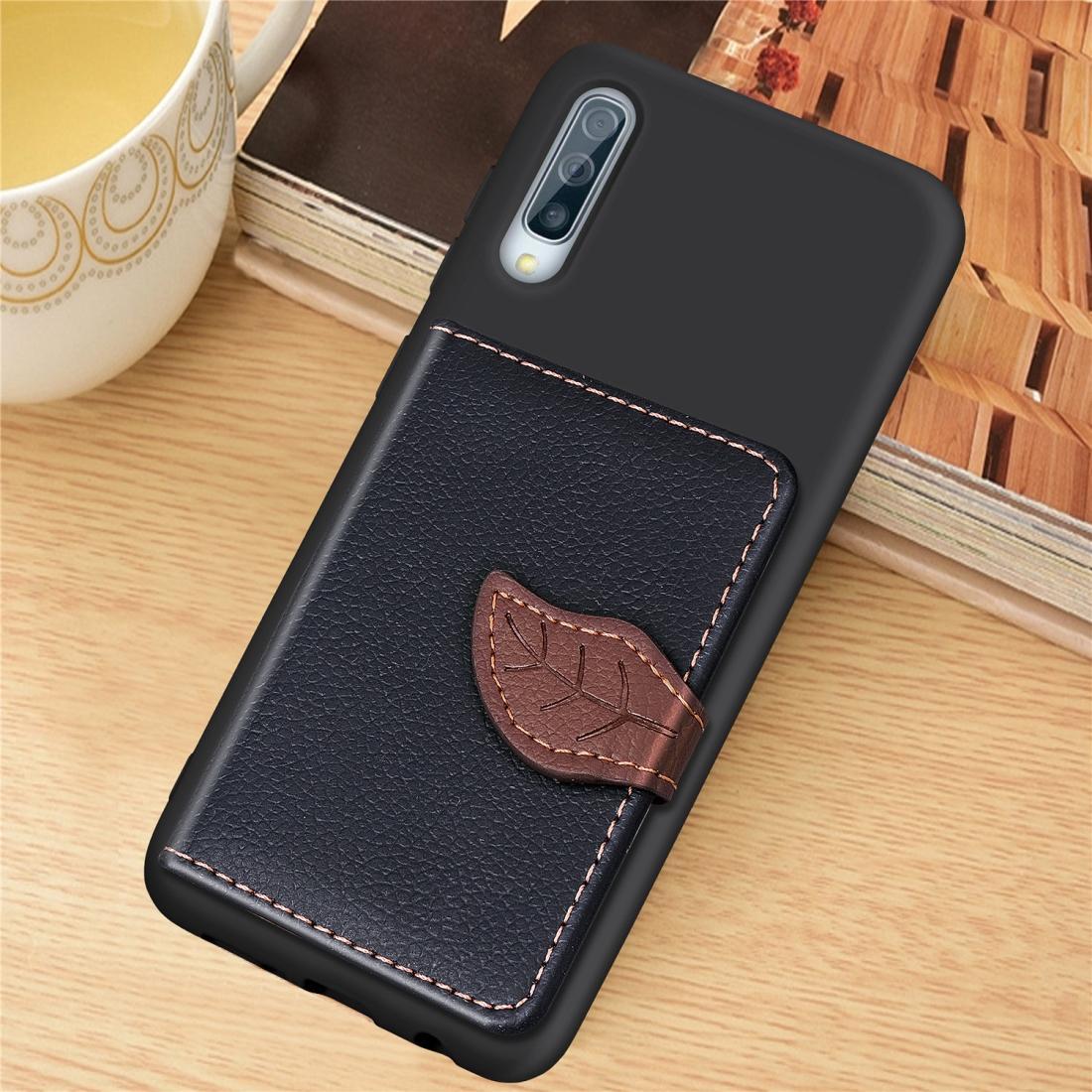 Patrón litchi tarjeta empaqueta la cartera caja del teléfono de TPU + Soporte con la tarjeta Función carpeta de la ranura del soporte para la galaxia A50