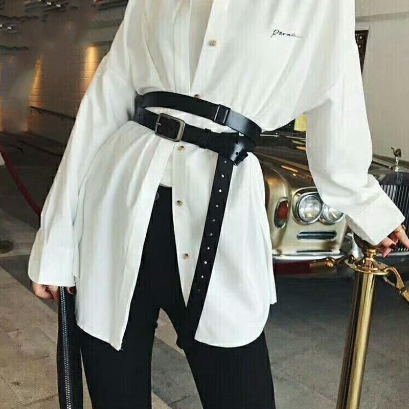 Piazza Buckle Genuine Leather Belt Donne Moda Belt Tutto-fiammifero popolare personalità semplice Vita 2020 Nuovo