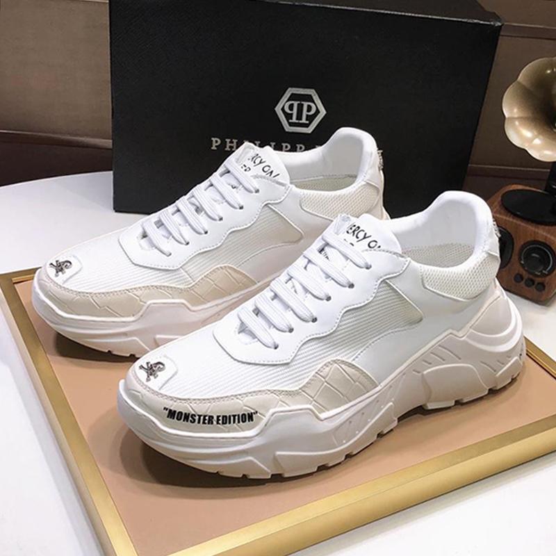 Homens Sapatos Esporte Luxo Moda Lo-Top Sneakers S30 Herren Sportschuhe Hot Sale Homens Sapatos de couro Zapatos Hombre tamanho grande moda sapatos homens