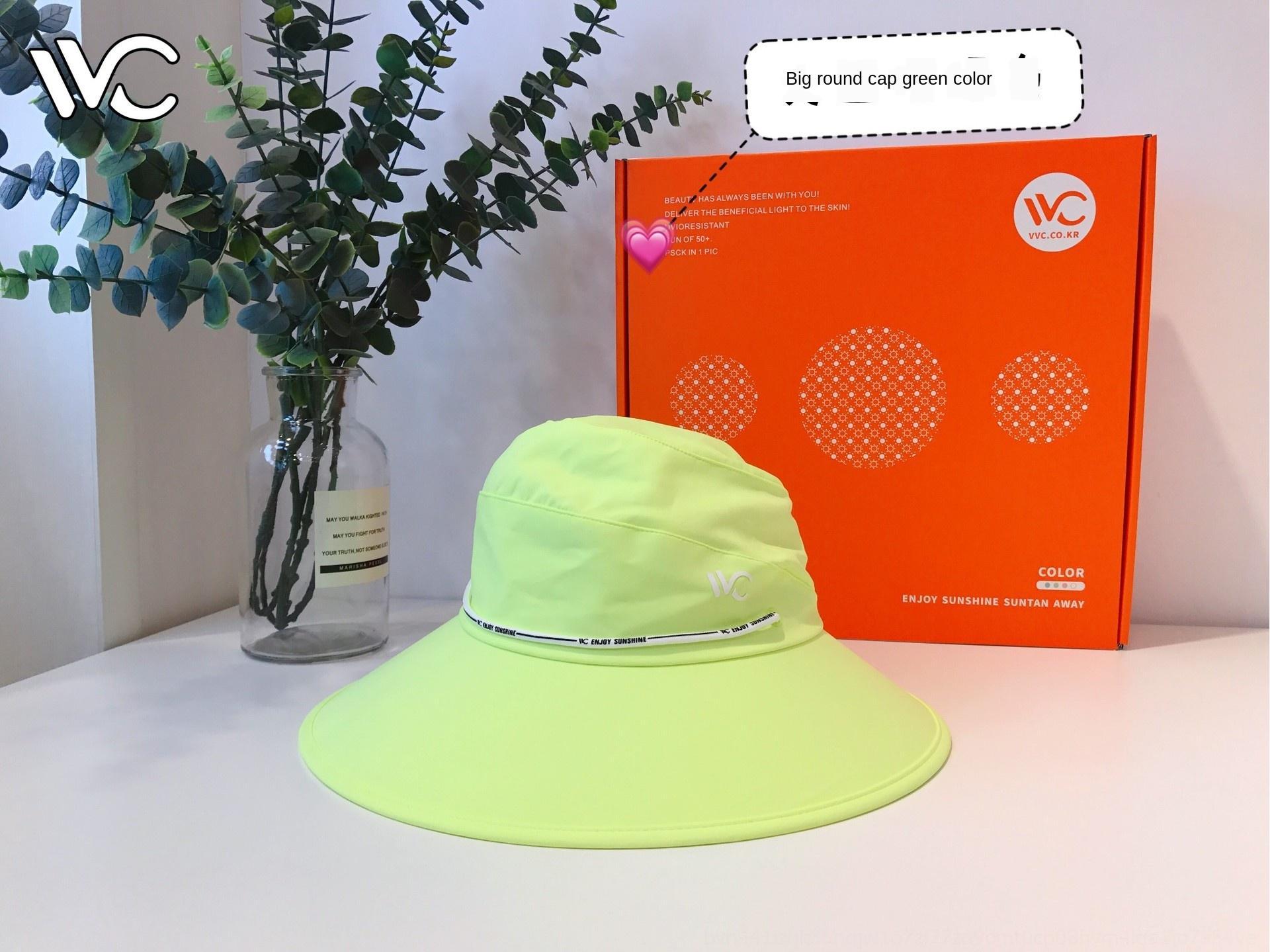 Korean Fisherman screen screen VVC2020 new big round fisherman protection women's summer sun Korean-style basin hat sun hat