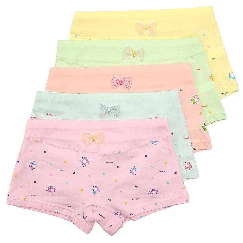 5 Pack Girls Boxer Brief Underwear Toddler Little Hipster Boyshort Kids Briefs Cotton Panties Set for Girls Kids Size 2-12 Years CX200803