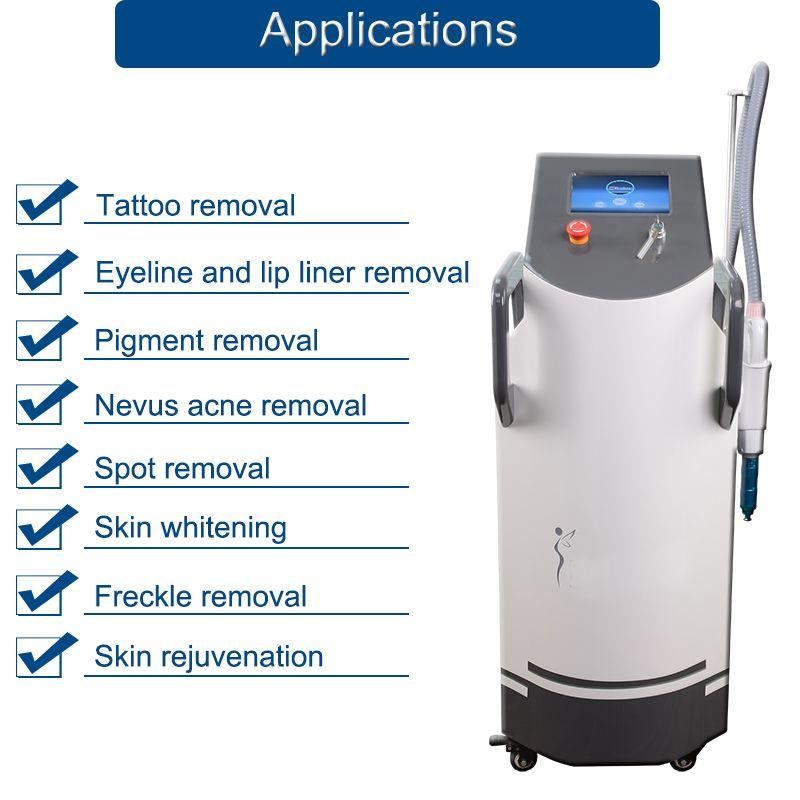 High End Pico Laser Tattoo Удаление Pico Q Switch ND YAG Лазерная машина для удаления татуировки