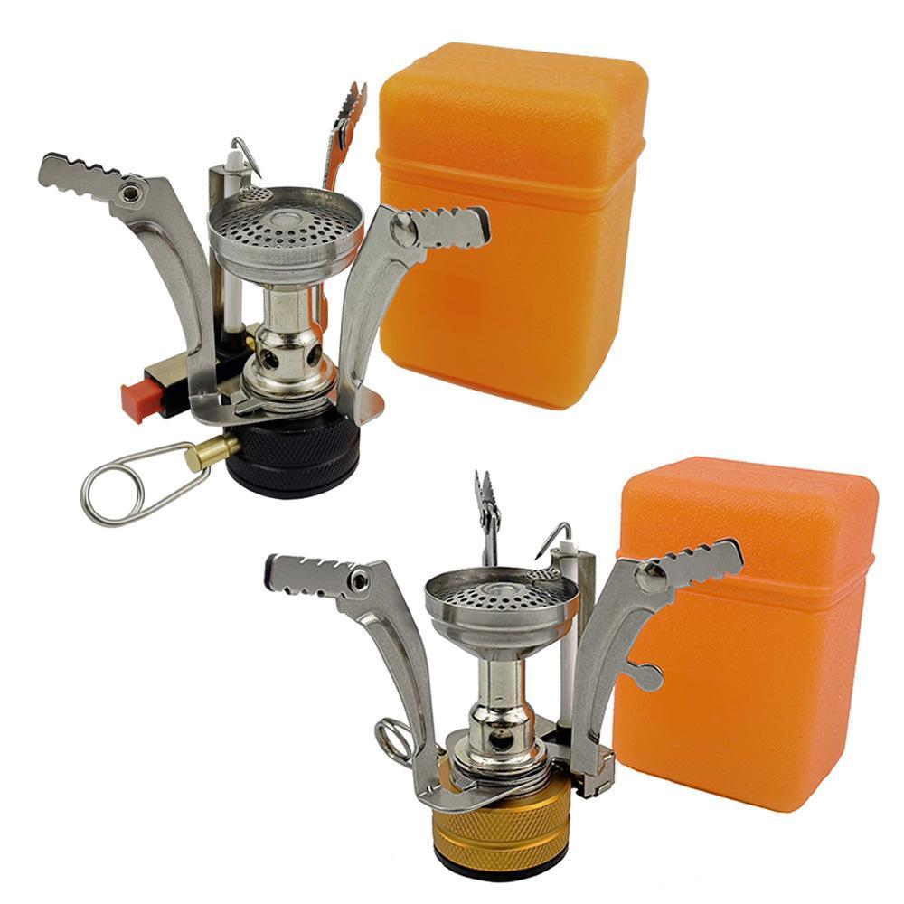 Mini ultraleggero fornelletti da campeggio che piega Cucina a gas fornace portatile Cooking picnic Split Stufe Fornello Bruciatori Nuovo