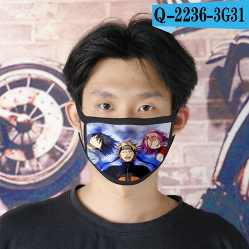 Наруто Rpg Cubrebocas многоразовый Tapabocas Face Mask Дизайнер Мужской Cartoon Face Mask 28 Наруто Rpg SeVOG xhlove