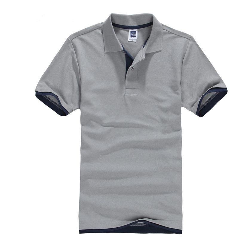 Classic Short Sleeve T shirt da Uomo Estate Casual T-Shirt Solid traspirante lusso cotone Tshirt maglie Golf Tennis Uomini Camisa Tops Y200611
