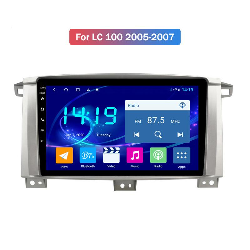 4+64GB 9inch IPS 2.5D Android 10 Radio for Car Toyota LC 100 2005-2007 Car DVD Multimedia Navigation Stereo Head Unit