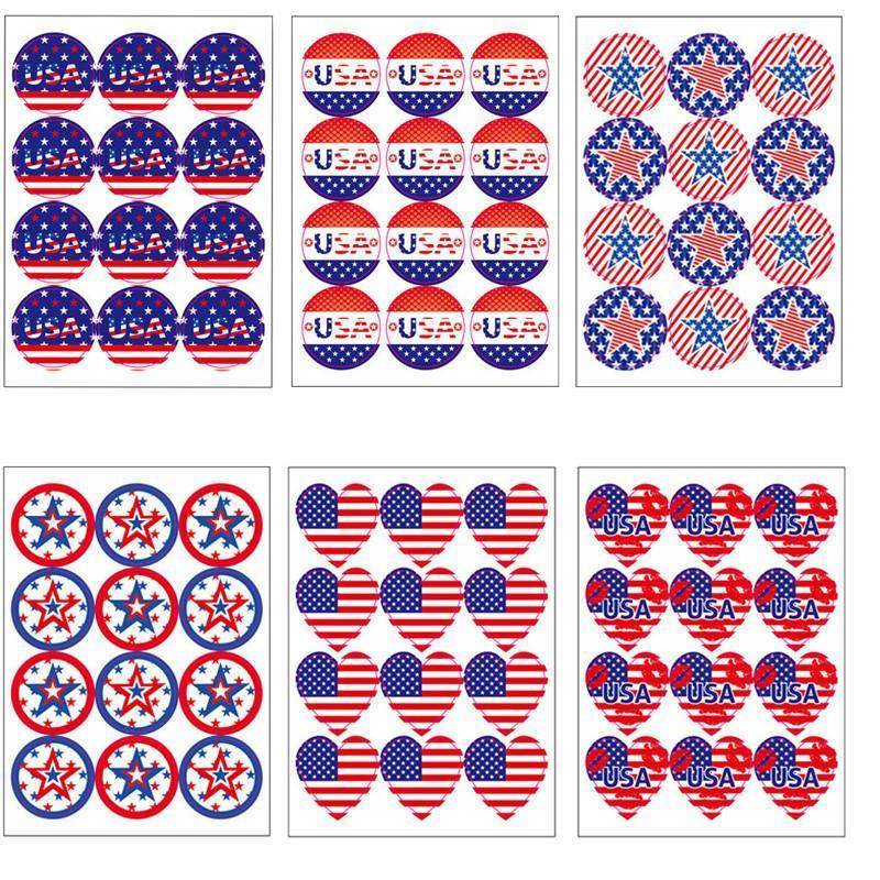 12 Adet / Set Sticker 2020 Trump Amerikan Seçim ABD Bayrağı Çıkartma Amerikan Bağımsızlık Günü Çıkartma Ücretsiz Kargo DHB205 Malzemeleri