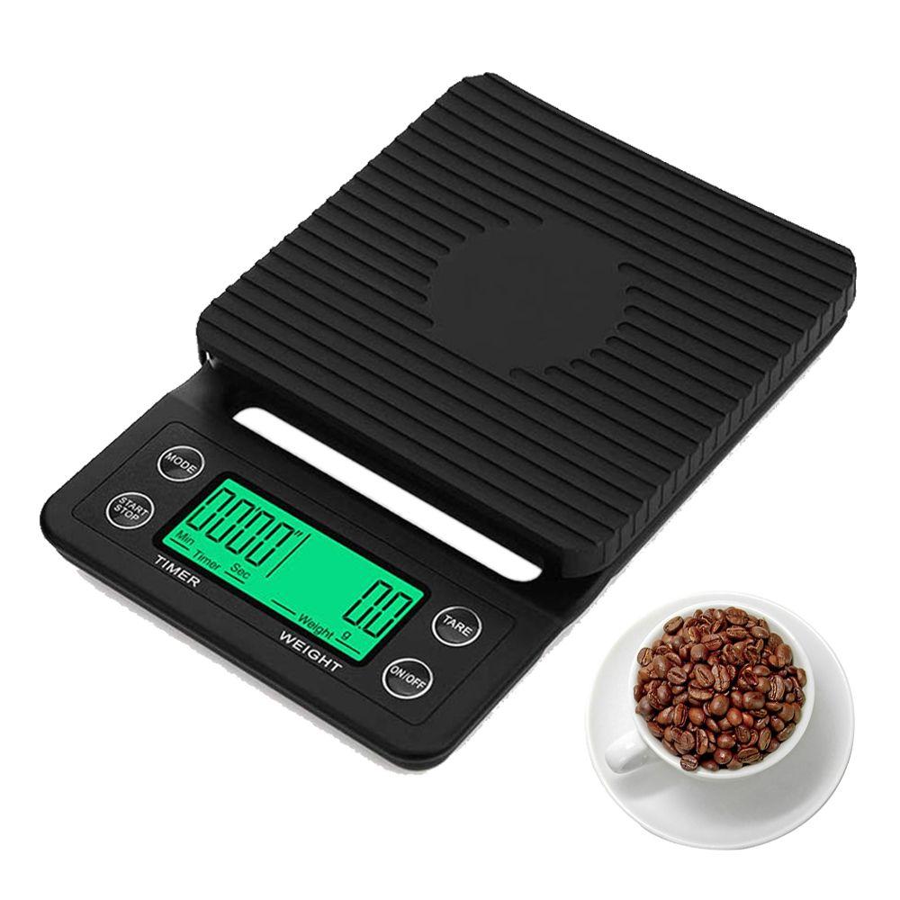 Ménage café goutte à goutte 0,1g Pesée Balance avec minuterie numérique portable électronique de haute précision Balances LCD