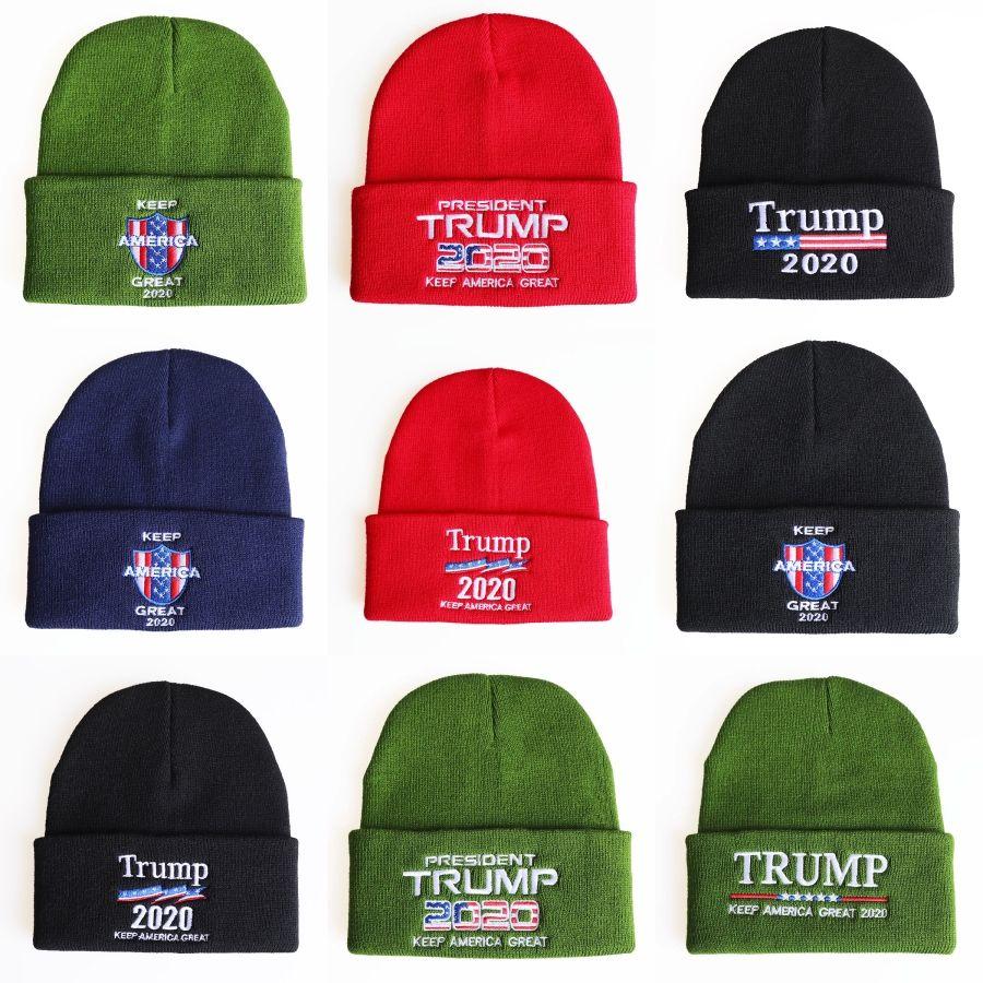 Trump Camouflage Chapeaux Donald Trump 2020 Casquettes tricotées Chapeaux américains Usa Camo Napback Sports Plage Golf Cap # 119 # 741